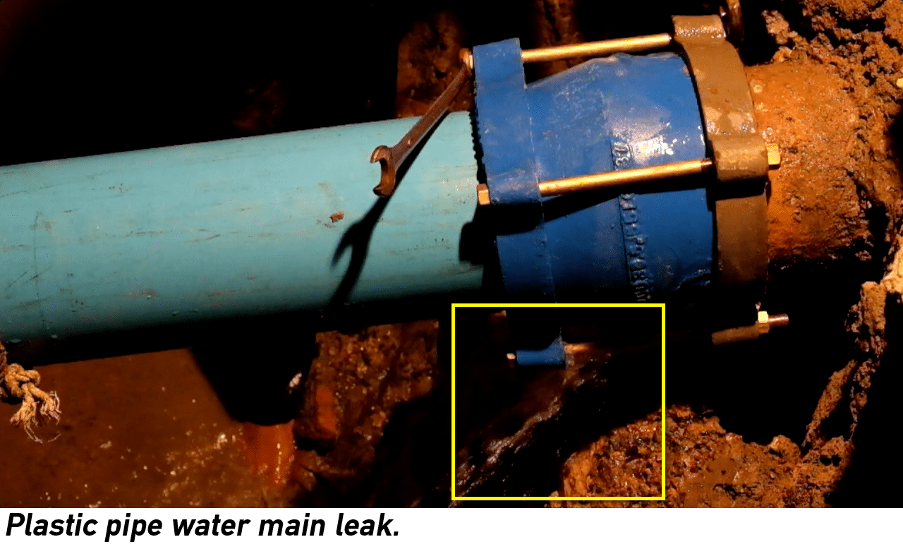 New law for reporting water loss sb 555 electro scan inc for Water main pipe material